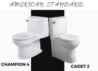 American Standard Champion 4 VS Cadet 3